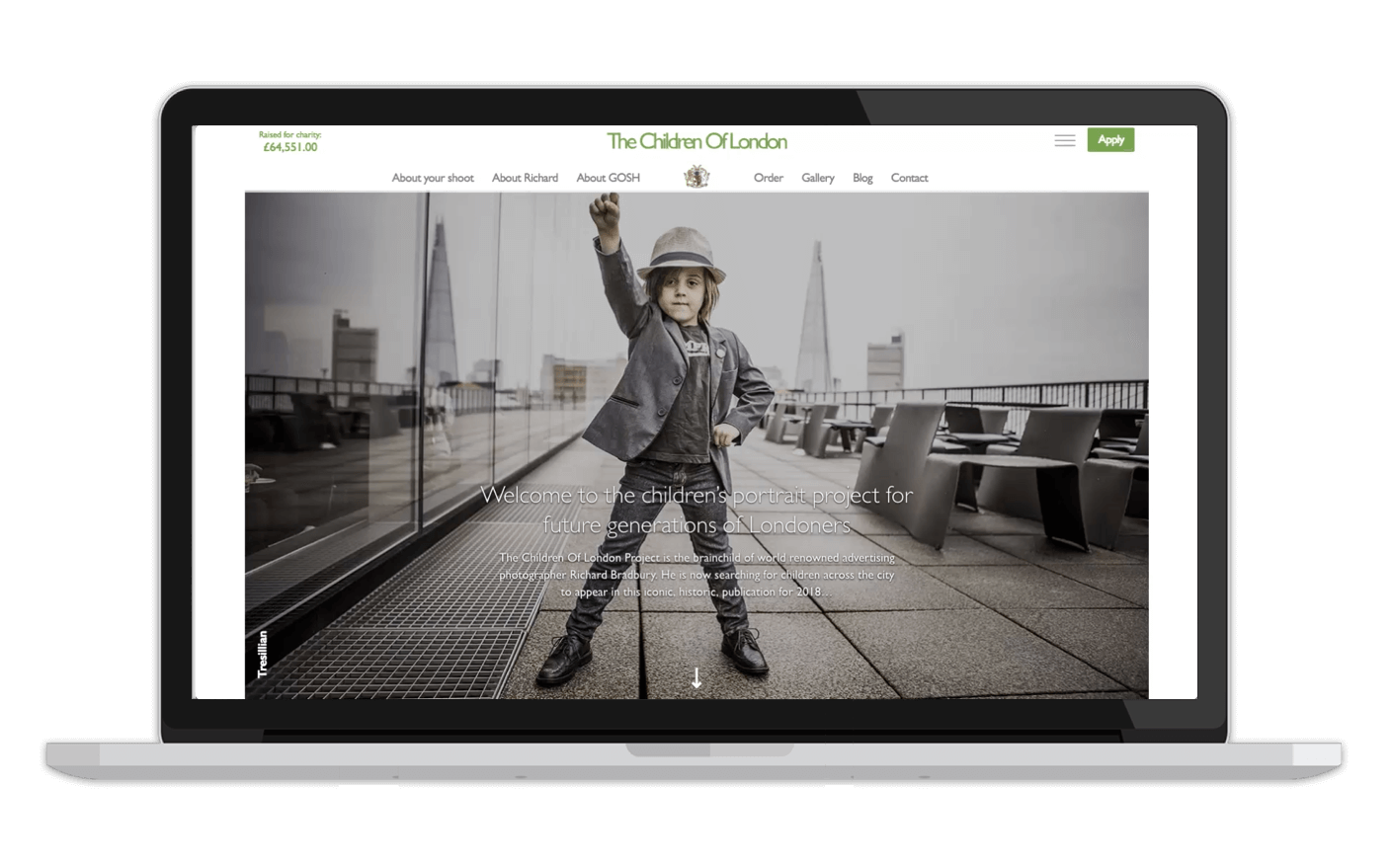 Children of London Landing page website design